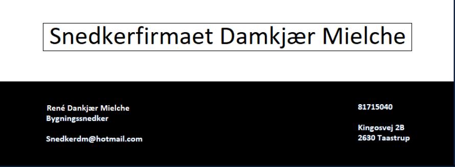 Snedkerfirmaet Damkjær Mielche
